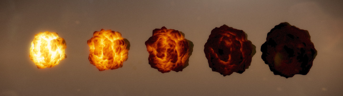 volumetric explosion